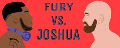 World heavyweight boxing champions Tyson Fury vs Anthony Joshua