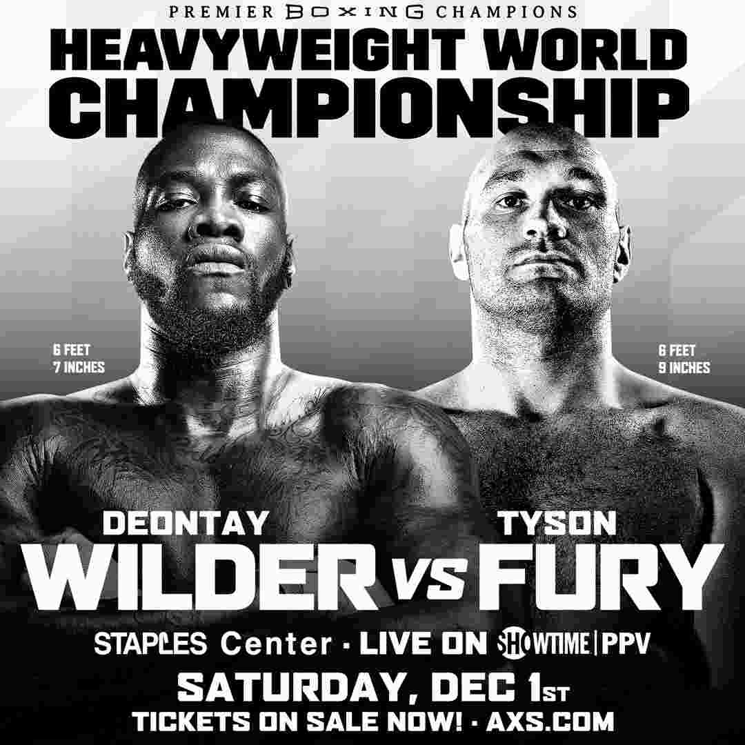 Fury vs Wilder fight poster