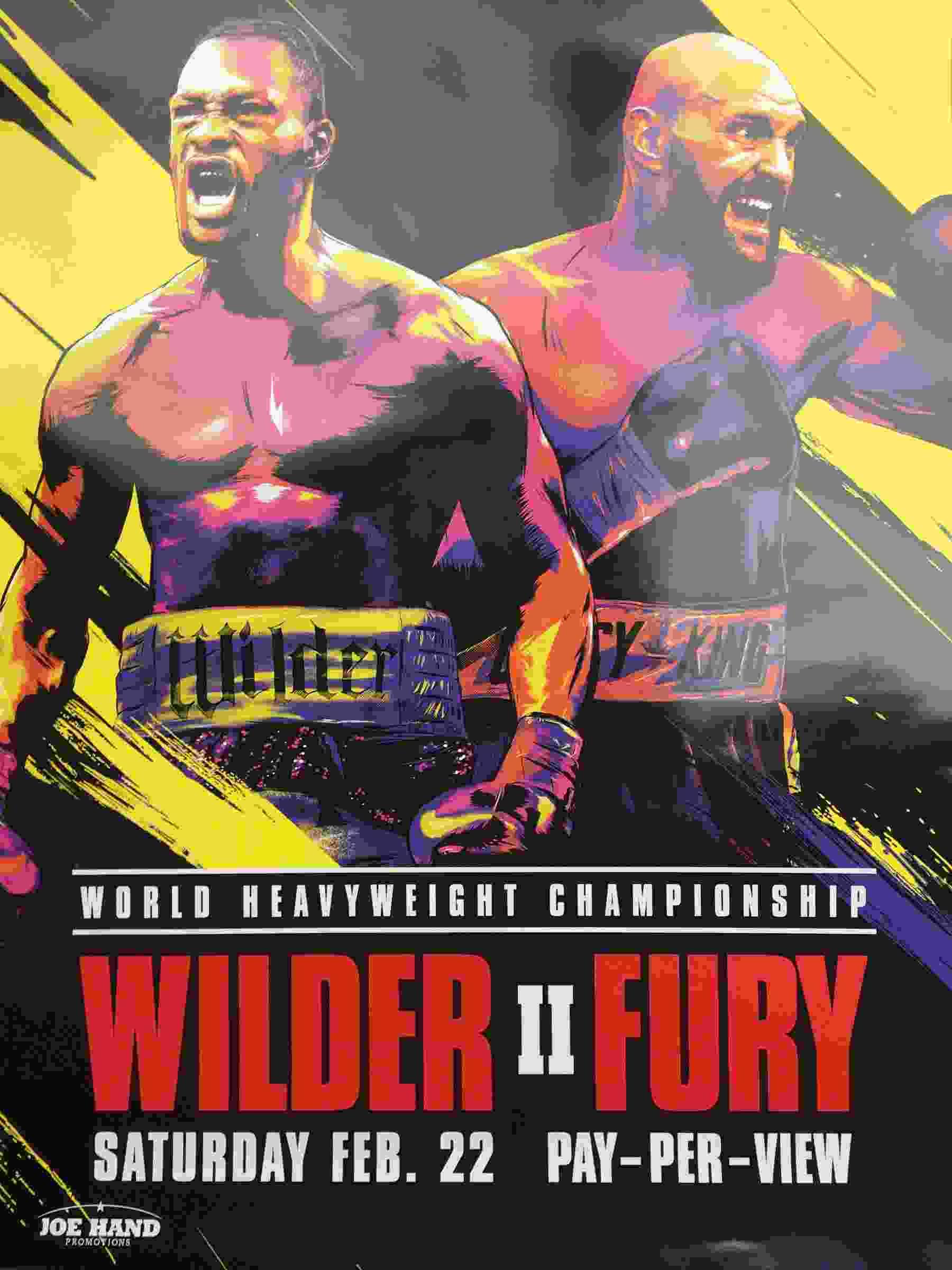 Fury vs Wilder 2 fight poster