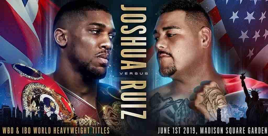 Joshua vs Ruiz fight poster