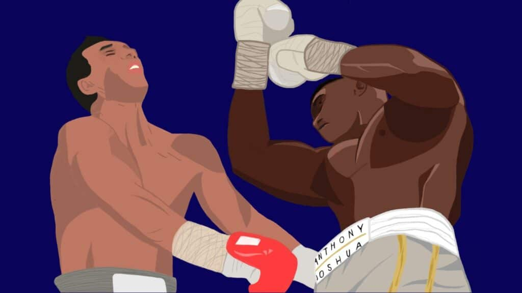 Anthony Joshua vs Wladimir Klitschko uppercut