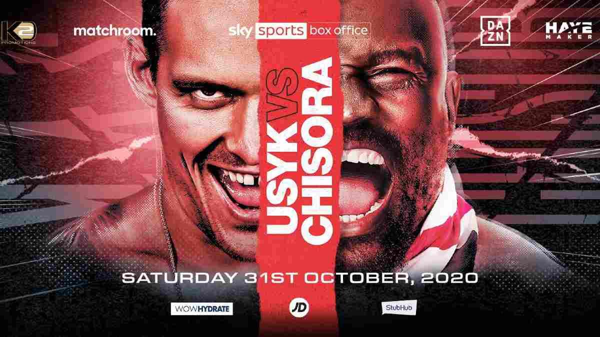 Usyk vs Chisora poster