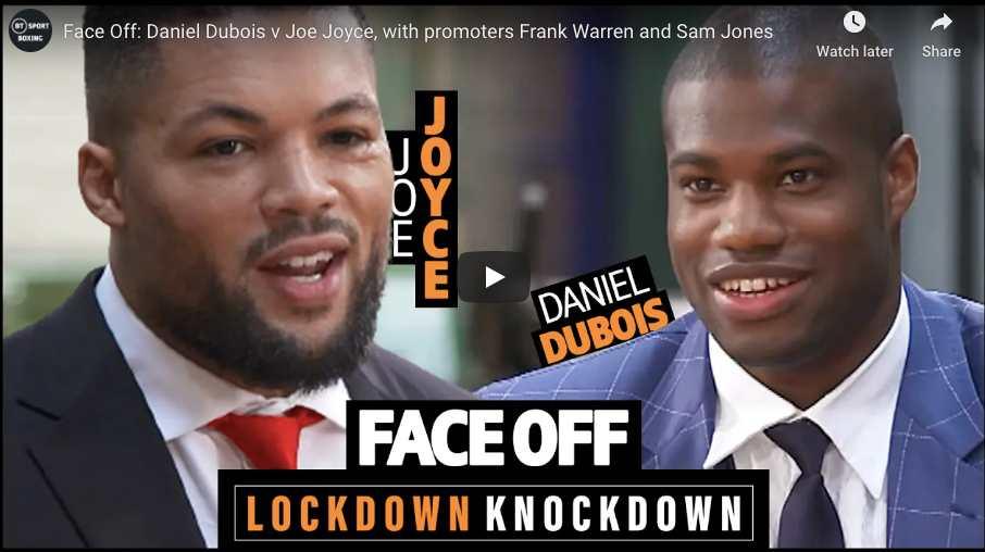 Dubois vs Joyce Face-off BT Sport