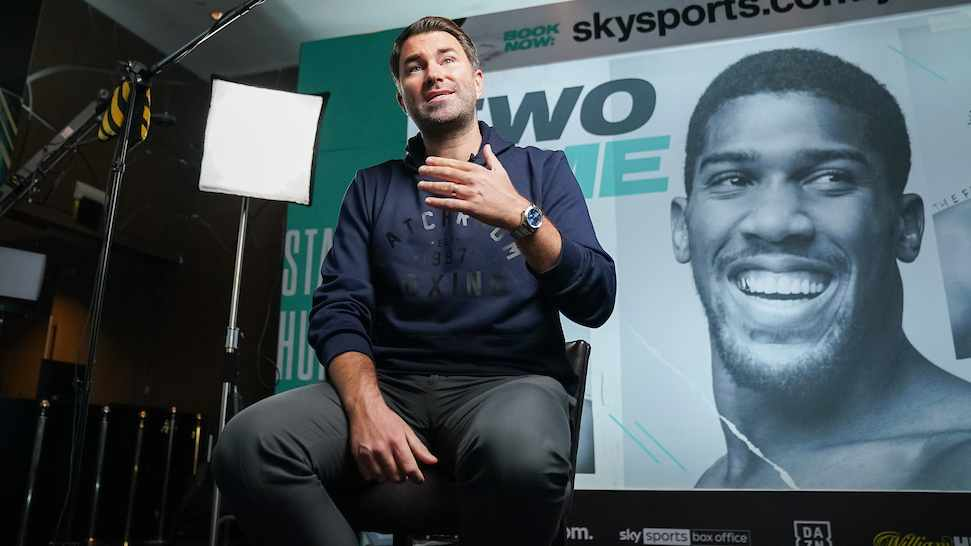 Eddie Hearn Joshua vs Pulev Media Day