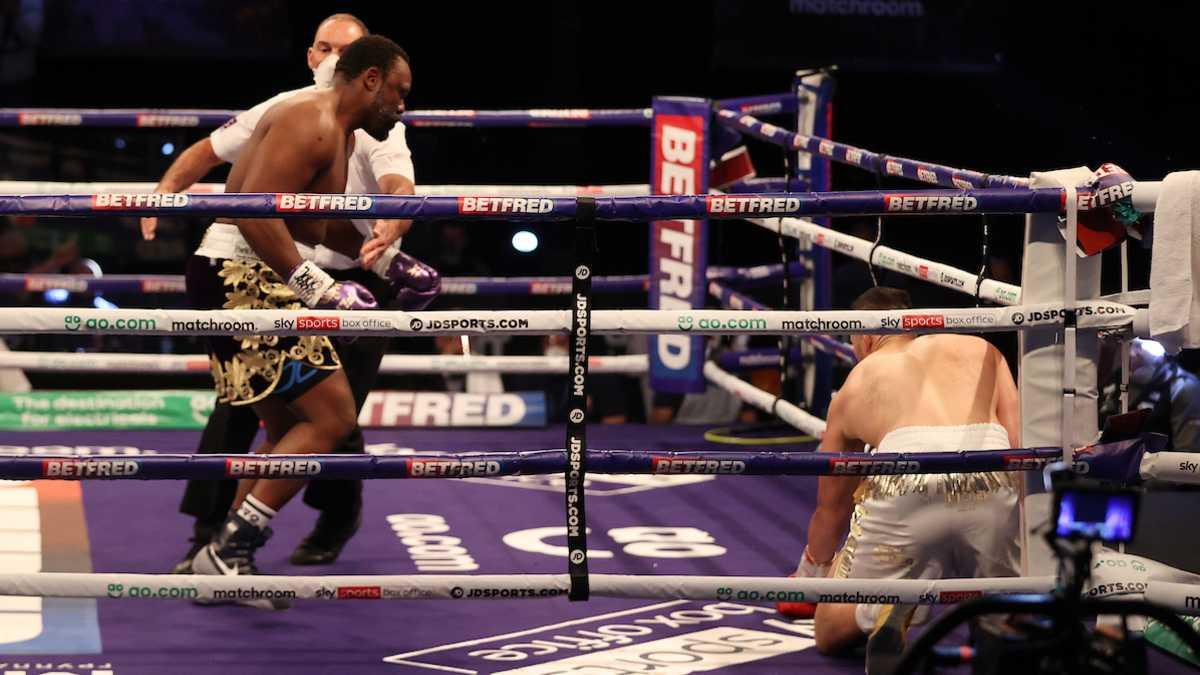 Dereck Chisora vs Joseph Parker Knockdown
