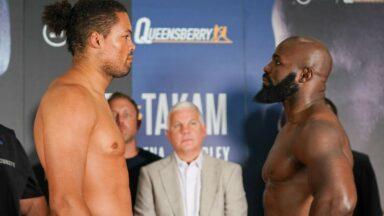 Joe Joyce vs Carlos Takam Weigh In
