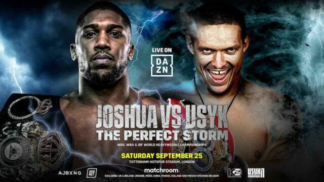 Joshua vs Usyk Fight Poster