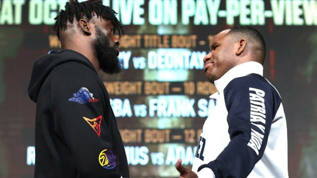 Efe Ajagba vs Frank Sanchez Faceoff Las Vegas 2021